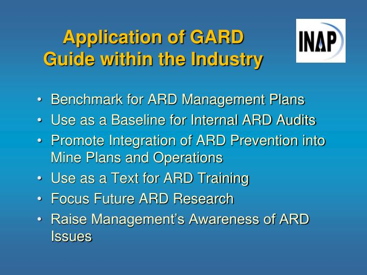 Application of GARD