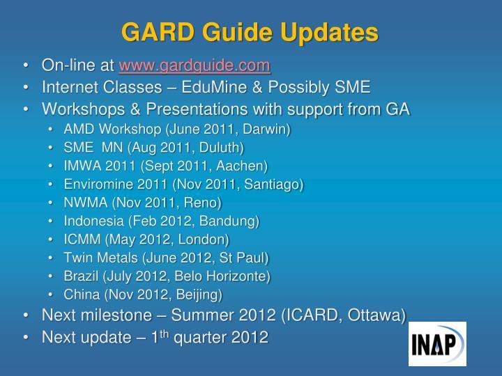 GARD Guide Updates