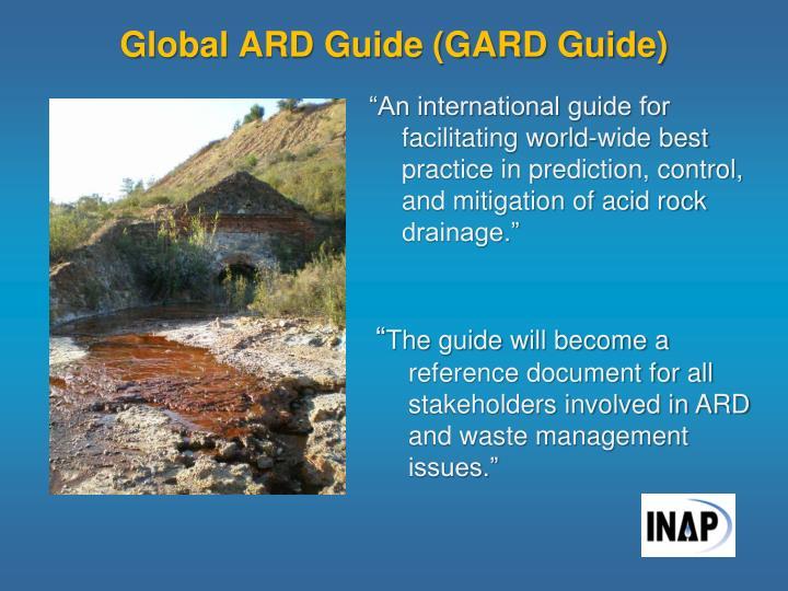Global ARD Guide (GARD Guide)