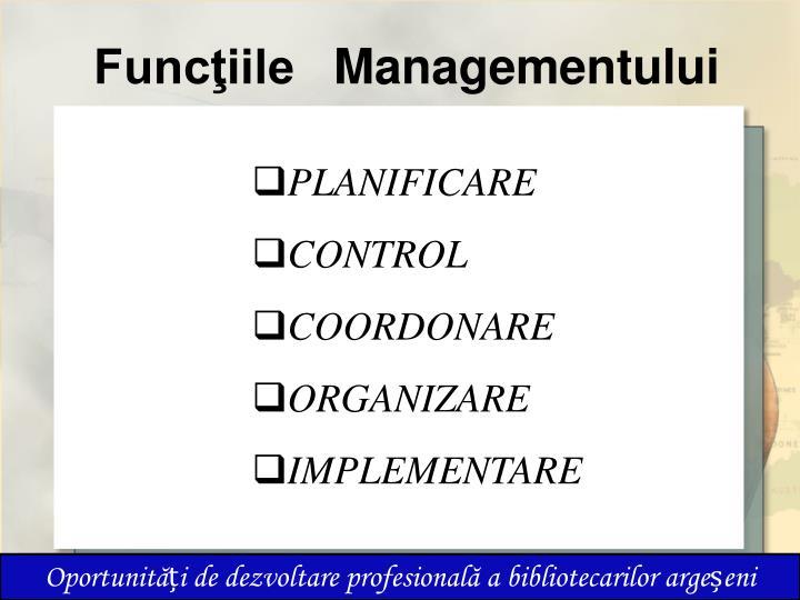 Func iile managementului