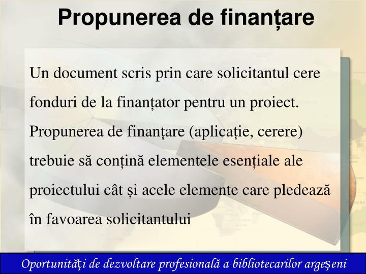 Propunerea de finan