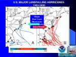 u s major landfalling hurricanes 1903 2000