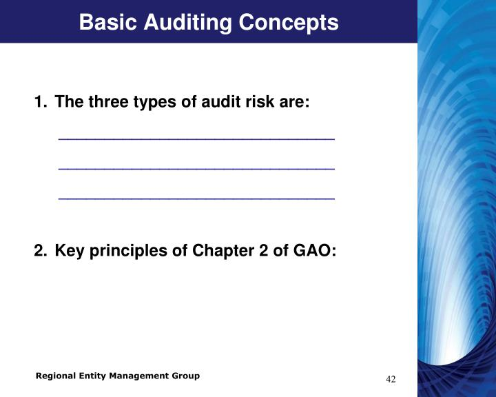 Basic Auditing Concepts