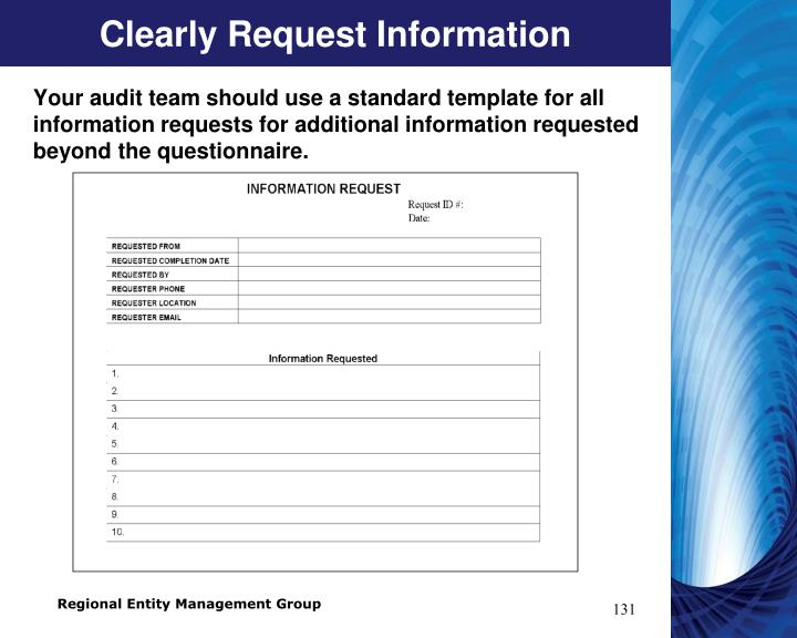 Clearly Request Information