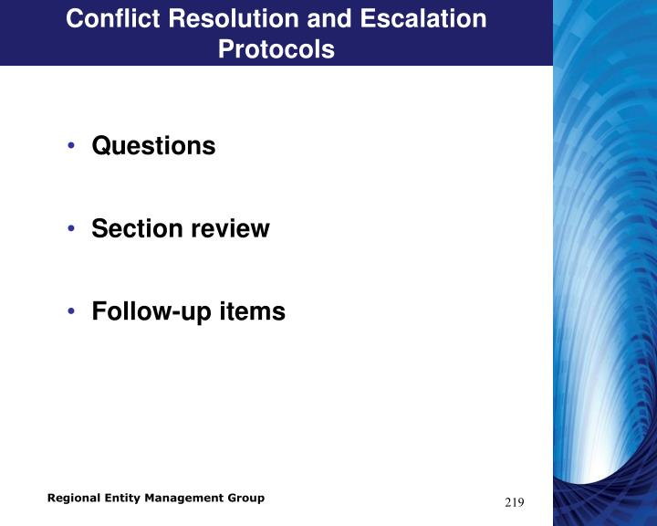 Conflict Resolution and Escalation Protocols