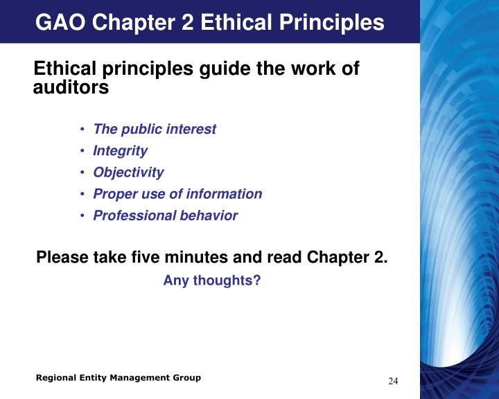 GAO Chapter 2 Ethical Principles