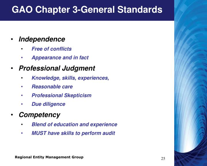 GAO Chapter 3-General Standards