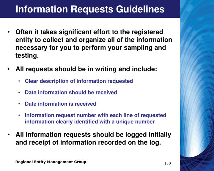 Information Requests Guidelines