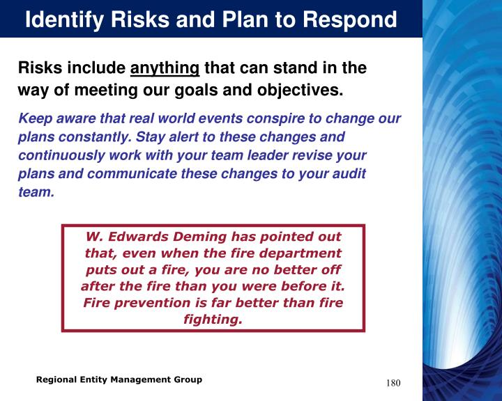 Identify Risks and Plan to Respond