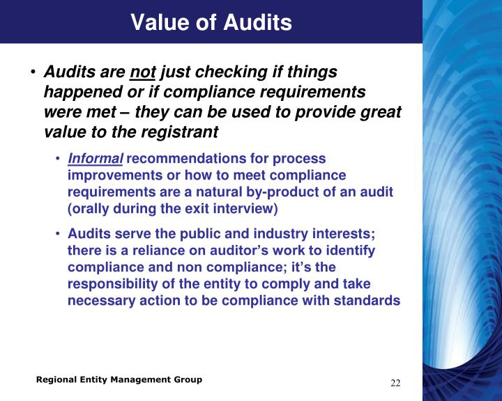 Value of Audits