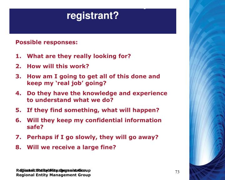 What are the concerns of your registrant?