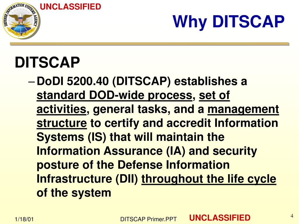 dod 8510.1 m ditscap application manual