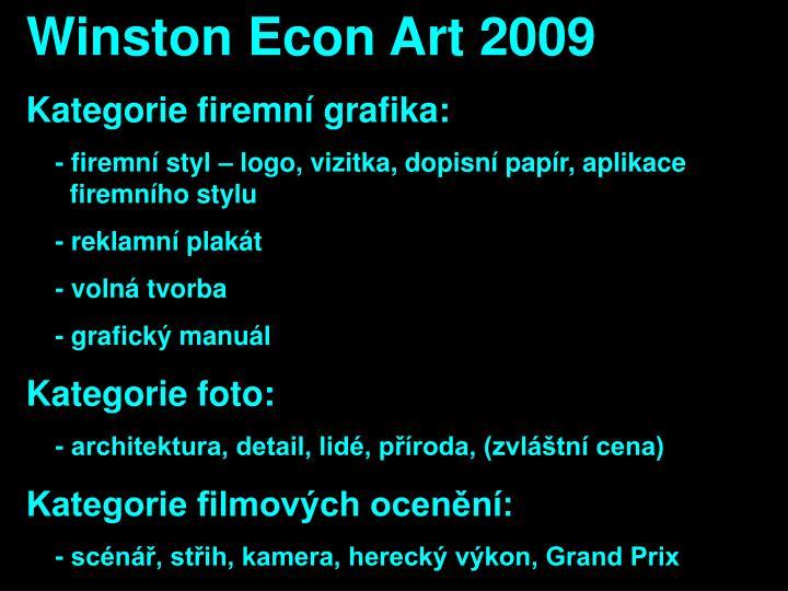 Winston Econ Art 2009