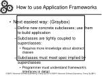 how to use application frameworks2