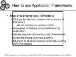 how to use application frameworks3