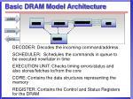 basic dram model architecture