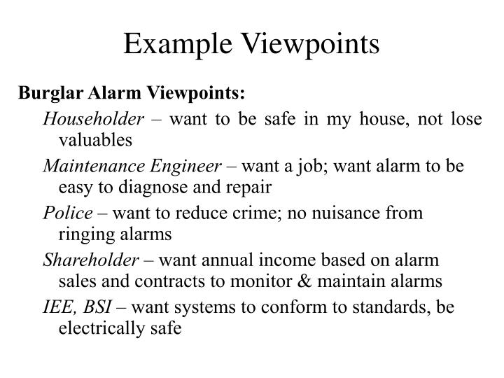 Example Viewpoints