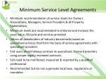 minimum service level agreements1