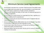 minimum service level agreements4