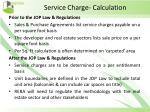 service charge calculation
