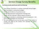 service charge survey benefits