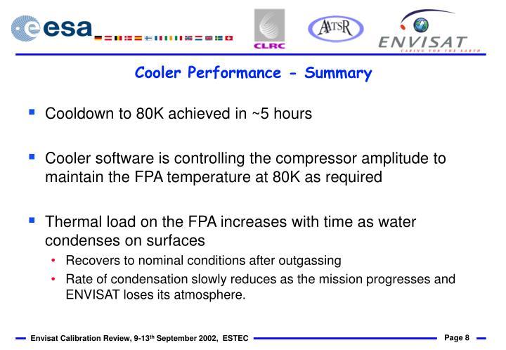 Cooler Performance - Summary