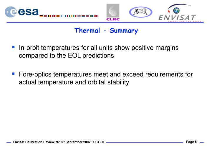 Thermal - Summary