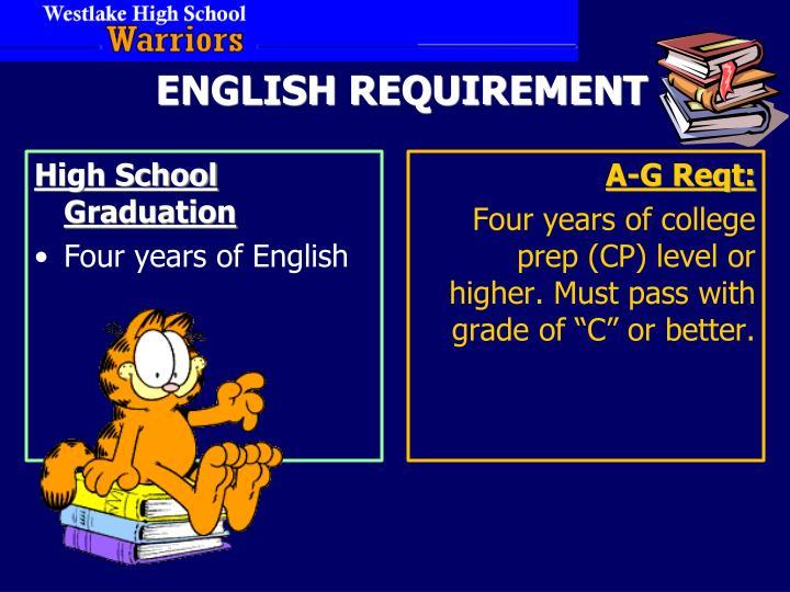 ENGLISH REQUIREMENT