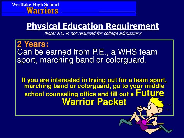 Physical Education Requirement