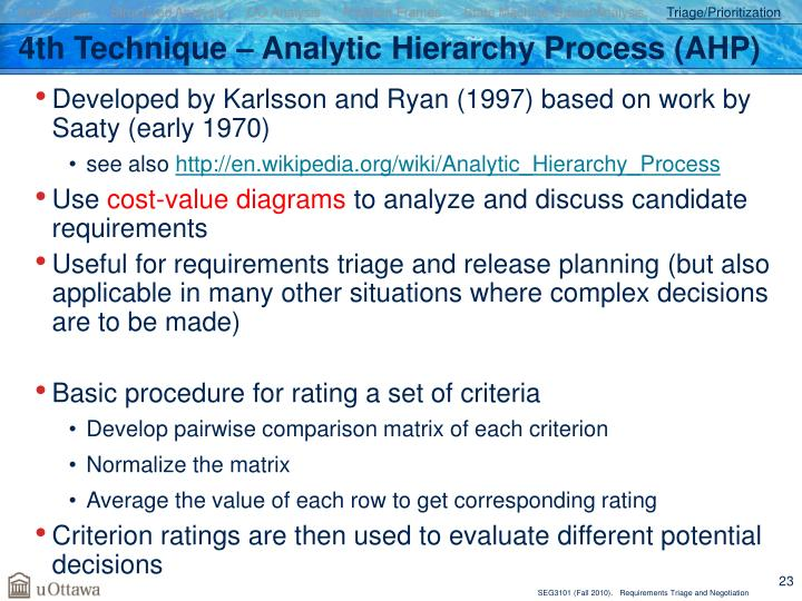 Introduction      Structured Analysis      OO Analysis      Problem Frames      State Machine-Based Analysis