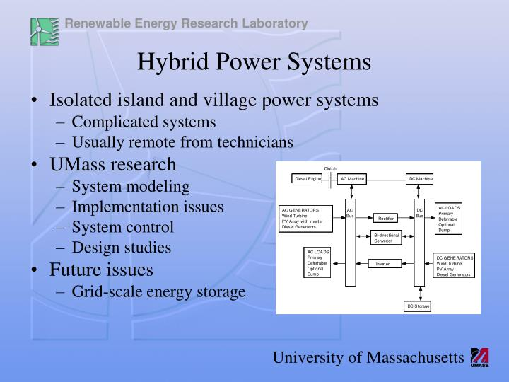 Isolated island and village power systems