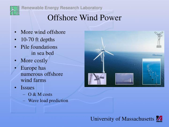 More wind offshore