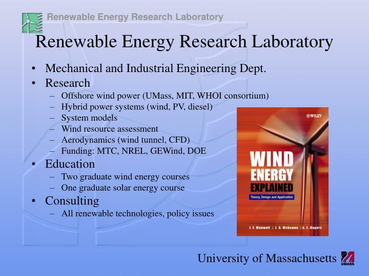 Renewable energy research laboratory