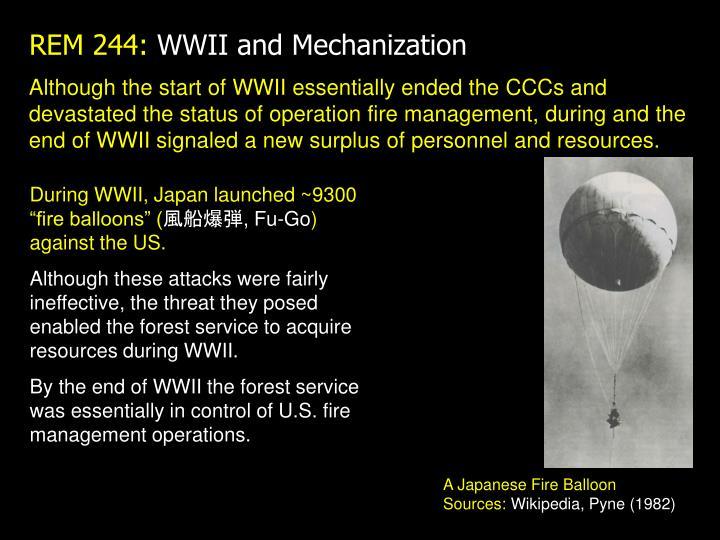 Rem 244 wwii and mechanization