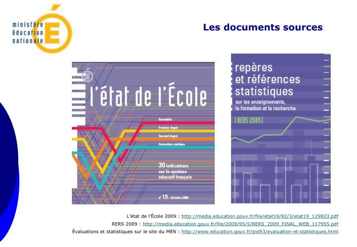 Les documents sources