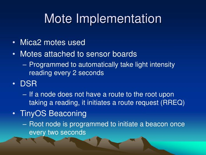 Mote Implementation