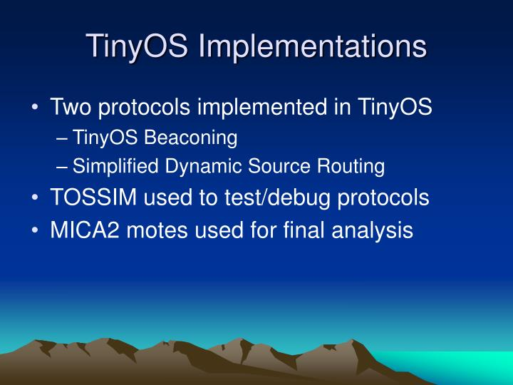 TinyOS Implementations