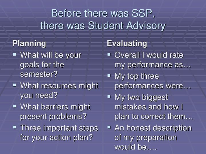 Before there was SSP,