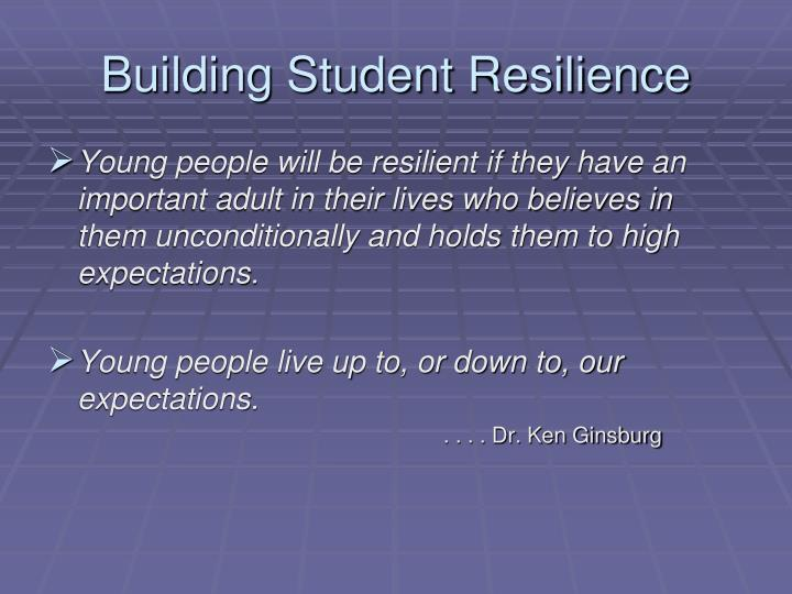 Building Student Resilience