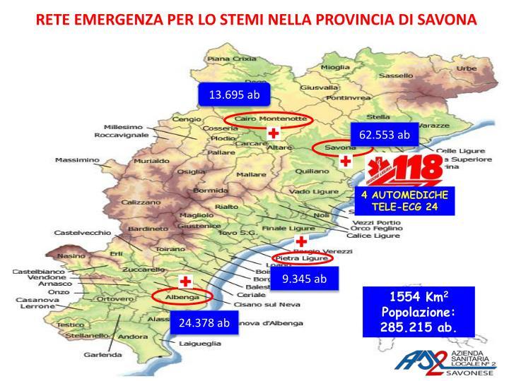 Rete emergenza per lo stemi nella provincia di savona