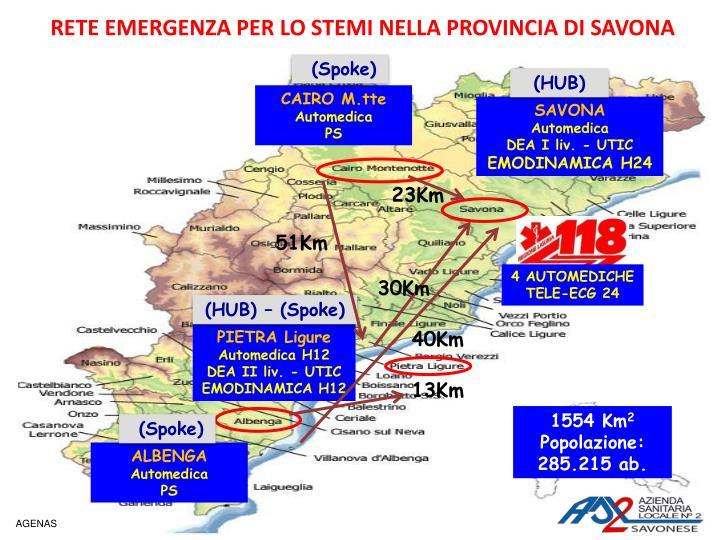 Rete emergenza per lo stemi nella provincia di savona1