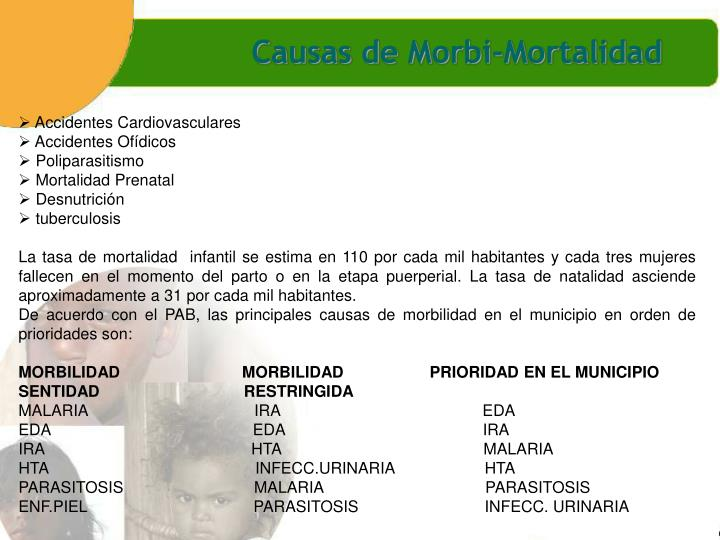 Causas de Morbi-Mortalidad