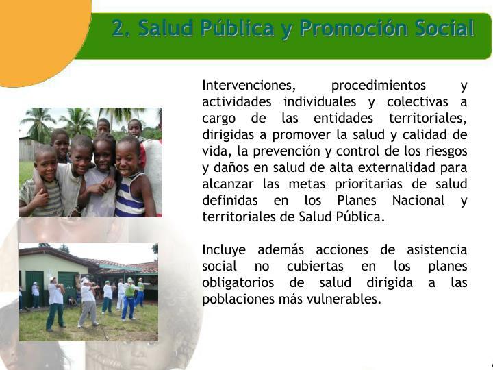 2. Salud Pública y Promoción Social