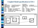 coupled model specification in cd