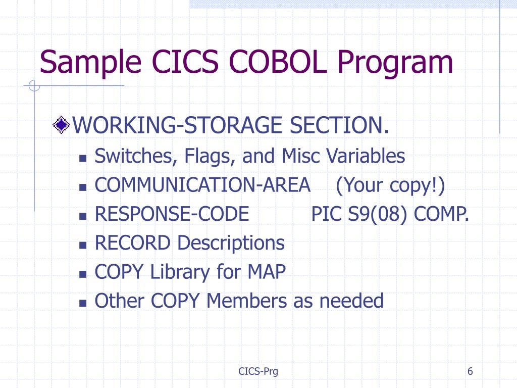 PPT - COBOL Considerations PowerPoint Presentation - ID:4774887