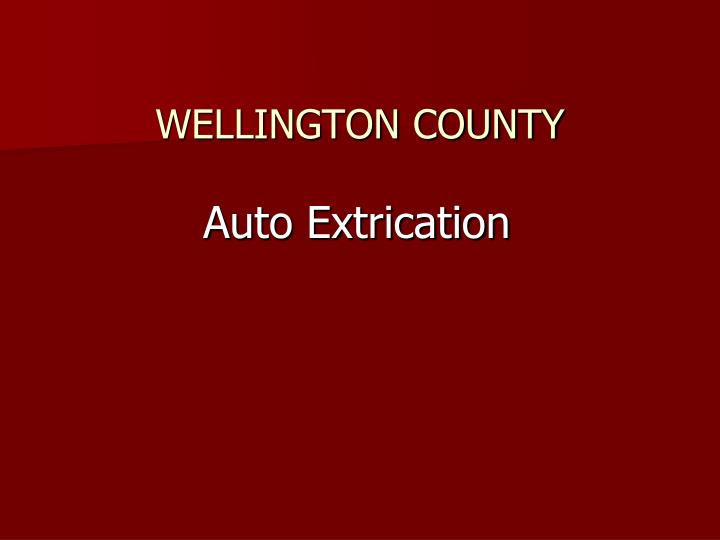 auto extrication n.