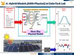 a hybrid models ann physical at solartech lab