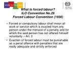 what is forced labour ilo convention no 29 forced labour convention 1930