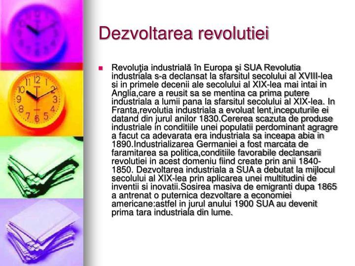 Dezvoltarea revolutiei