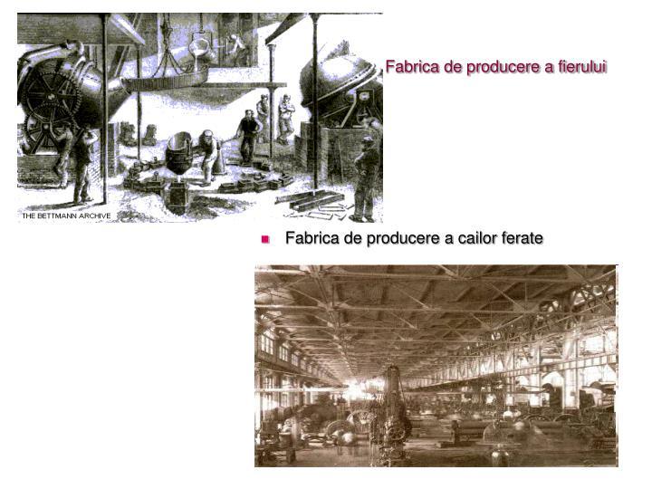 Fabrica de producere a fierului